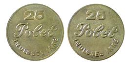 01174 GETTONE TOKEN JETON FICHA DENMARK AMUSEMENT GAMING SLOT MACHINE 25 POLET INGLOSES IKKE - Tokens & Medals