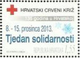HR 2013-ZZ130 RED CROSS SOLIDARNOST, HRVATSKA CROATIA, 1 X 1v, MNH - Kroatien
