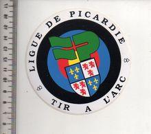 REF 10 : Autocollant Sticker Thème TIR A L'ARC Archerie Archer Compagnie Club Picardie - Archery
