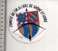 REF 10 : Autocollant Sticker Thème TIR A L'ARC Archerie Archer Compagnie Club Saone Et Loire - Tir à L'Arc