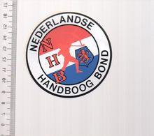 REF 10 : Autocollant Sticker Thème TIR A L'ARC Archerie Archer Compagnie Club Pays Bas Handboog - Archery