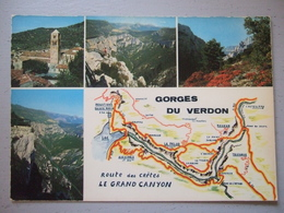 GORGES DU VERDON / JOLI LOT DE 17 CARTES PHOTOS / TOUTES LES PHOTOS - France