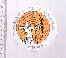 REF 10 : Autocollant Sticker Thème TIR A L'ARC Archerie Archer Compagnie Morangis - Tiro Al Arco