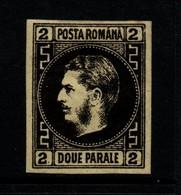 Rumania 1866 2 P Black On Yellow Unused - 1858-1880 Moldavie & Principauté
