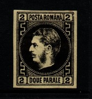 Rumania 1866 2 P Black On Yellow Unused - 1858-1880 Moldavia & Principato