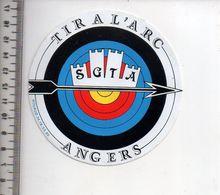 REF 10 : Autocollant Sticker Thème TIR A L'ARC Archerie Archer Compagnie Angers - Tiro Con L'Arco