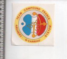 REF 10 : Autocollant Sticker Thème TIR A L'ARC Archerie Archer Compagnie Archery CARRIAU - Archery