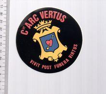 REF 10 : Autocollant Sticker Thème TIR A L'ARC Archerie Archer Compagnie Vertus - Tiro Con L'Arco