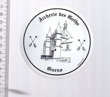REF 10 : Autocollant Sticker Thème TIR A L'ARC Archerie Archer Compagnie Goths GUEUX - Tir à L'Arc