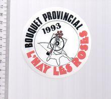 REF 10 : Autocollant Sticker Thème TIR A L'ARC Archerie Archer Compagnie L'hay Les Roses - Tir à L'Arc