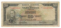 Venezuela 50 Bolivares 1972, F/VF. - Venezuela