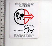 REF 10 : Autocollant Sticker Thème TIR A L'ARC Archerie Archer Compagnie Lausanne - Archery
