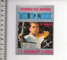 REF 10 : Autocollant Sticker Thème TIR A L'ARC Archerie Archer Compagnie Paris Le Zenith - Archery