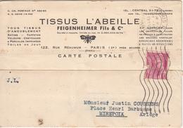 09 - MIREPOIX -  Courrier Du TISSUS L'ABEILLE  Pour  Mirepoix - Mirepoix