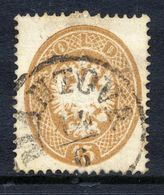 AUSTRIA: LOMBARDY VENETIA 1863 Arms 15 Soldi Perforated 14,  Used.  Michel 18 - 1850-1918 Empire