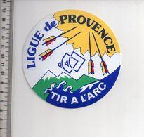 REF 10 : Autocollant Sticker Thème TIR A L'ARC Archerie Archer Compagnie Ligue De Provence - Archery
