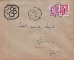 Bouxwiller Lettre à Entête 1947 Charles Ehrmann - Marcophilie (Lettres)