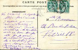 N°60757 -cachet Convoyeur (ambulant) Paris à St Germain - Postmark Collection (Covers)