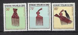 """Congo YT 705 à 707 """" Peignes Traditionnels """" 1983 Neuf** - Neufs"""