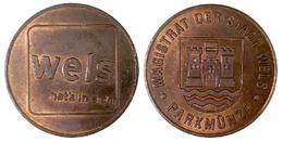 01602 GETTONE TOKEN JETON FICHA AUSTRIA PARCHEGGIO PARKING PARKMUNZE WELS - Tokens & Medals