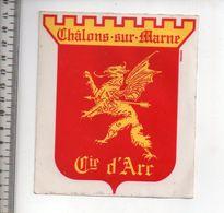 REF 10 : Autocollant Sticker Thème TIR A L'ARC Archerie Archer Compagnie Chalons Sur Marne - Archery