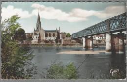 CPSM 33 - Langon - L'Eglise - Le Pont Et La Garonne - Langon