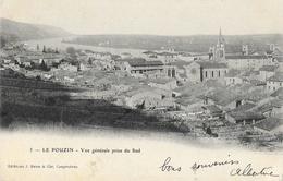 Le Pouzin (Ardèche) - Vue Générale Prise Du Sud - Edition J. Brun & Cie - Carte Dos Simple - Le Pouzin