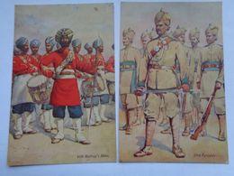 Réf: 98-17-24.            4 Cartes Postales:  Militaires Anglais. ( Colorisée ) ( Voir Détail ) - Uniforms