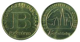 01590 GETTONE TOKEN JETON FICHA AUSTRIA PARCHEGGIO PARKING PARKMUNZE BISCHOFSHOFEN - Tokens & Medals