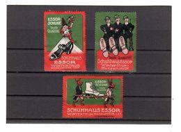 3 Timbres Vignettes Reklamemarken Schuhe Schuhaus Essor, Winterthur Schweiz - Cinderellas