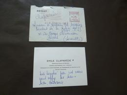 Autographe Sur CDV Emile Claparède Sénateur Béziers + Enveloppe D'envoi - Autographes