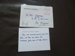 Autographe Sur CDV Jules Moch Sénateur Hérault + Enveloppe D'envoi - Autographes
