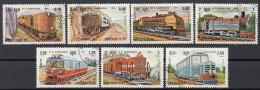 Cambogia 1984 Sc. 504-510 Treni Locomotive Full Set CTO - Cambogia