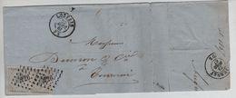 TP 17(2) S/L.c.Louvain LOS 226 C.23/4/1867 V.Tournai C.d'arrivée 1596 - Marcophilie