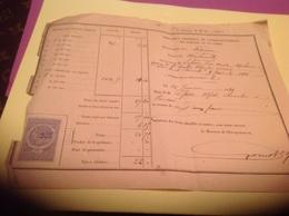 Direction Générale De L Enregistrement Des Domaines Et Du Timbre Ardenne Marchault Saint Clément 1888 Reçu Charcutiers - France