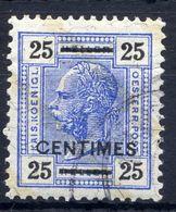 AUSTRIA PO IN CRETE (French Currency) 1904 25 C. On 25 H. Used.  Michel 10B - Eastern Austria