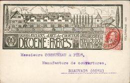 CPA Illustrée Publicitaire - Decoene Frères Ateliers D'Art De Courtrai (Belgique) - 1911 - Kortrijk