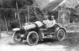 """CPA  """"DUBOIS"""" à L'Ile Bouchard, (Indre Et Loire) - Voiture """"BARRE"""". Avis De Passage. Circulée En 1909. 2 Scan. - L'Île-Bouchard"""