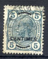 AUSTRIA PO IN CRETE (French Currency) 1904 5 C. On 5 H. Perforated 13:12½ Used.  Michel 8B - Levant Autrichien
