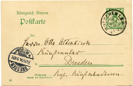 (Lo1570) Altdeutschland Ganzs. Bayern St. München N. Dresden - Brieven