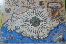 Rose Vents Map Provence - Landkarten