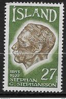 Islande 1975 N° 457  Neuf ** MNH émigration Islandaise Aux USA. S. Stefansson - 1944-... Repubblica