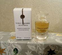 """Miniature """"Voile D'Ambre"""" Secrets D'Essence De Yves Rocher Eau De Parfum 5 Ml Dans Sa Boîte - Miniatures Modernes (à Partir De 1961)"""