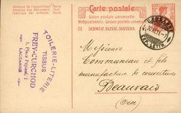 CPA Publicitaire - Frey-Curchod Toilerie-Literie-Tissus 1, Place Pépinet Lausanne (Suisse) - 1911 - VD Waadt