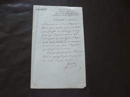 LAS Autographe Guriens Marine Brest Bretagne  8 Floréal An  II A Propos D'une Lettre De Son Fils - Manuscripts