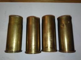 4 Douilles 37mm 1914/1916 - Armes Neutralisées