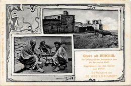 CPA Perse Iran Persia Circulé En 1903 BUSCHIR Types Tabac - Iran