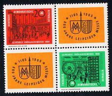 26.02.1964 Leipziger Frühjahrsmesse Viererblock Postfrisch Xx - Blocks & Kleinbögen