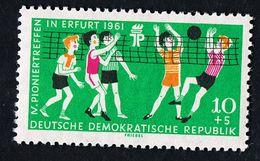 25.Mai 1961 Pioniertreffen Erfurt, Michelkatalognummer 827, Seltene Wasserzeichen-Abart 3 X  In Postfrisch Xx - DDR