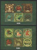 UKRAINE 2013 Mi Blöcke 117-118 Animals Of The Chinese Calendar Of The Moon / Tiere Des Chinesischen Mondkalenders **/MNH - Oekraïne